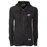 Ladies Under Armour Black Varsity Full Zip Hoodie-Utility
