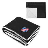Super Soft Luxurious Black Sherpa Throw Blanket-Utility