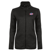 Black Heather Ladies Fleece Jacket-Utility