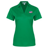 Ladies Kelly Green Performance Fine Jacquard Polo-Utility