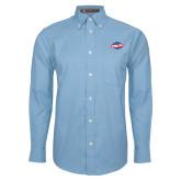 Mens Light Blue Oxford Long Sleeve Shirt-Utility