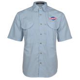 Light Blue Short Sleeve Performance Fishing Shirt-Utility