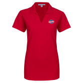Ladies Red Dry Zone Grid Polo-Utility