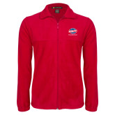 Fleece Full Zip Red Jacket-Utility, Personalized