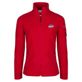 Columbia Ladies Full Zip Red Fleece Jacket-Utility