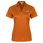 Ladies Orange Performance Fine Jacquard Polo-Utility