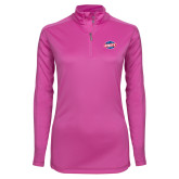 Ladies Syntrel Interlock Raspberry 1/4 Zip-Utility