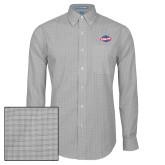 Mens Charcoal Plaid Pattern Long Sleeve Shirt-Utility