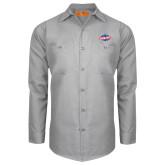 Red Kap Light Grey Long Sleeve Industrial Work Shirt-Utility