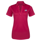 Ladies Pink Raspberry Silk Touch Performance Polo-Utility