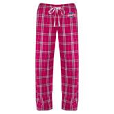 Ladies Dark Fuchsia/White Flannel Pajama Pant-Utility