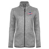 Grey Heather Ladies Fleece Jacket-Utility