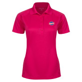 Ladies Pink Raspberry Dry Mesh Pro Polo-Utility