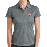 Ladies Nike Dri Fit Charcoal Crosshatch Polo-Utility