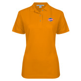 Ladies Easycare Orange Pique Polo-Utility