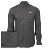 Red House Dark Charcoal Diamond Dobby Long Sleeve Shirt-Utility