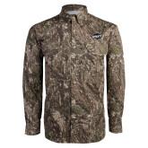 Camo Long Sleeve Performance Fishing Shirt-Utility