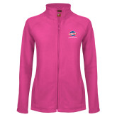 Ladies Fleece Full Zip Raspberry Jacket-Utility, Personalized