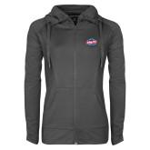 Ladies Sport Wick Stretch Full Zip Charcoal Jacket-Utility