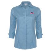 Ladies Red House Light Blue 3/4 Sleeve Shirt-Utility