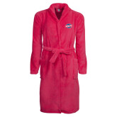 Ladies Pink Raspberry Plush Microfleece Shawl Collar Robe-Utility