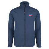 Navy Heather Softshell Jacket-Utility