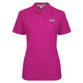 Ladies Easycare Tropical Pink Pique Polo-Utility