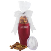 Deluxe Nut Medley Vacuum Insulated Red Tumbler-Heavy Duty Parts Horizontal Engraved