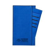 Parker Blue RFID Travel Wallet-Heavy Duty Parts Horizontal Engraved