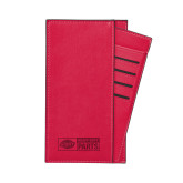 Parker Red RFID Travel Wallet-Heavy Duty Parts Horizontal Engraved