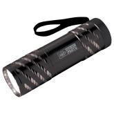 Astro Black Flashlight-Heavy Duty Parts Horizontal Engraved