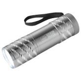 Astro Silver Flashlight-Heavy Duty Parts Horizontal Engraved