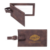 Sorano Brown Luggage Tag-Utility w Tagline Engraved