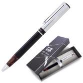 Cutter & Buck Black/Tortoise Shell Draper Ballpoint Pen-Utility Engraved