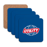 Hardboard Coaster w/Cork Backing 4/set-Utility