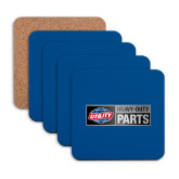 Hardboard Coaster w/Cork Backing 4/set-Heavy Duty Parts Horizontal