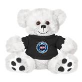 Plush Big Paw 8 1/2 inch White Bear w/Black Shirt-Genuine Parts