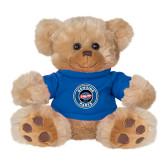 Plush Big Paw 8 1/2 inch Brown Bear w/Royal Shirt-Genuine Parts