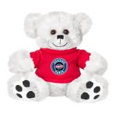 Plush Big Paw 8 1/2 inch White Bear w/Red Shirt-Genuine Parts