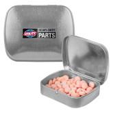 Silver Rectangular Peppermint Tin-Heavy Duty Parts Horizontal