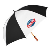 62 Inch Black/White Vented Umbrella-Utility