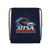 Navy Drawstring Backpack-Primary Logo