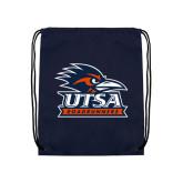 Navy Drawstring Backpack-Primary Logo