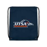 Navy Drawstring Backpack-UTSA Roadrunners w/ Head Flat