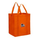 Non Woven Orange Grocery Tote-Primary Logo