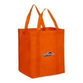 Non Woven Orange Grocery Tote-UTSA Roadrunners w/ Head Flat