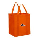 Non Woven Orange Grocery Tote-Roadrunner Head