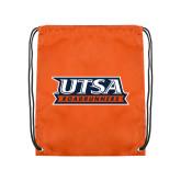 Orange Drawstring Backpack-UTSA Roadrunners Stacked