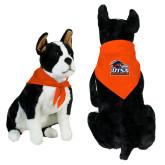 Orange Pet Bandana-Primary Logo