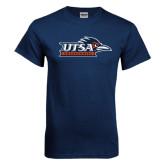 Navy T Shirt-UTSA Roadrunners w/ Head Flat